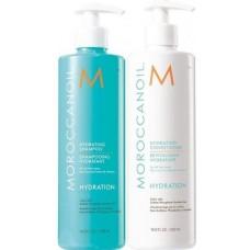 Set duo sampon si balsam hidratant pentru par uscat - Gift sets - Moroccanoil - 2 produse cu 20% discount