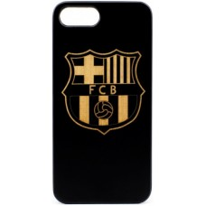 "Husa VINTAGE din lemn acacia pentru iPhone 7/8, pirogravura - Acacia wood vintage case for iPhone 7/8, phyrography ""FC Barcelona"""