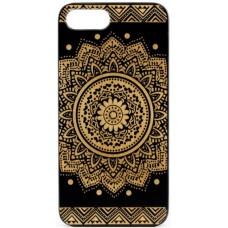 "Husa vintage din lemn acacia pentru iPhone 7/8, pirogravura - Acacia wood vintage case for iPhone 7/8, phyrography ""Oriental mandala"""