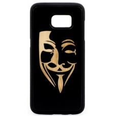 "Husa vintage din lemn acacia pentru Samsung Galaxy S7 Edge, pirogravura - Acacia wood vintage case for Samsung Galaxy S7 Edge, phyrography ""Mim Mask"""
