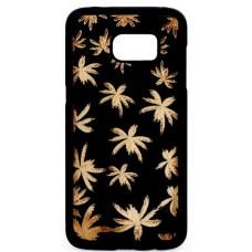 "Husa vintage din lemn acacia pentru Samsung Galaxy S7, pirogravura - Acacia wood vintage case for Samsung Galaxy S7, phyrography ""Maria leaves"""