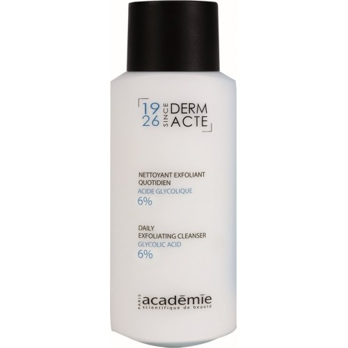 Lapte Demachiant Exfoliant, Acid Glicolic 15% - Daily Exfoliating Cleanser - Derm Acte Iar - Academie - 250 Ml