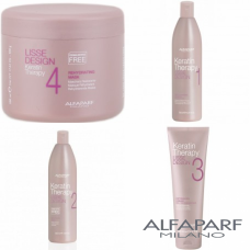 Kit pentru netezirea parului - Lisse Design - Keratin Therapy - Alfaparf Milano - 4 produse
