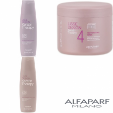Kit sampon + balsam + masca - Lisse Design - Keratin Therapy - Alfaparf Milano - 3 produse cu 7% discount