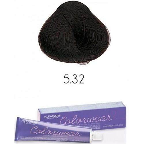 Vopsea Semi-permanenta Fara Amoniac Profesionala - 5.32 - Color Wear - Alfaparf Milano - 60 Ml