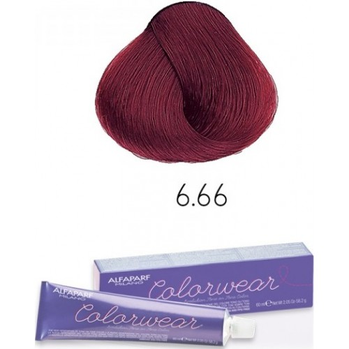 Vopsea Semi-permanenta Fara Amoniac Profesionala - 6.66 - Color Wear - Alfaparf Milano - 60 Ml