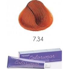 Vopsea semi-permanenta fara amoniac profesionala - 7.34 - Color Wear- Alfaparf Milano - 60 ml