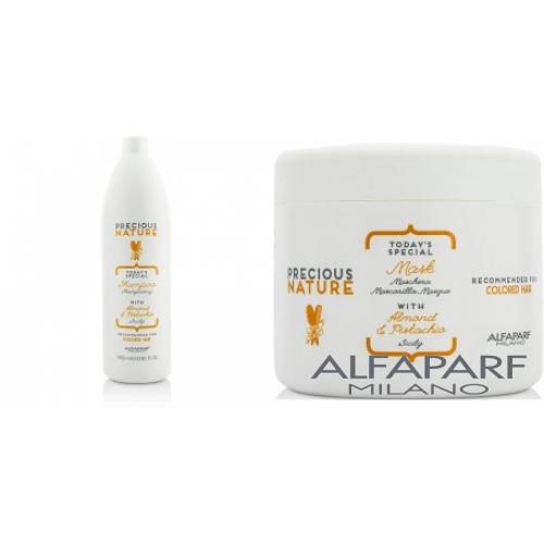 Kit Mare Intens Protector Pentru Par Vopsit - Sampon + Masca - Precious Nature - Colored Hair - Alfaparf Milano - 2 Produse Cu 25% Discount