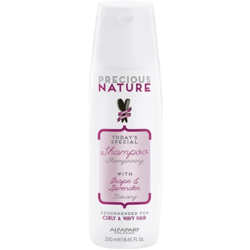 Sampon Hranitor Pentru Par Cret Sau Ondulat - Curly & Wavy Hair Shampoo - Precious Nature - Alfaparf Milano - 250 Ml