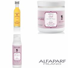 Kit mic hranitor pentru parul cret - Precious Nature - Curly And Wavy Hair - Alfaparf Milano - 3 produse cu 25% discount