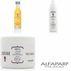 Kit mare hranirea parului cret - Precious Nature - Curly And Wavy Hair - Alfaparf Milano - 3 produse cu 25% discount