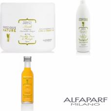 Kit mare pentru netezirea parului drept - Precious Nature - Long And Straight Hair - Alfaparf Milano - 3 produse cu 25% discount