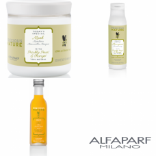 Kit mic pentru parul lung si drept - Precious Nature - Long And Straight Hair - Alfaparf Milano - 3 produse cu 25% discount
