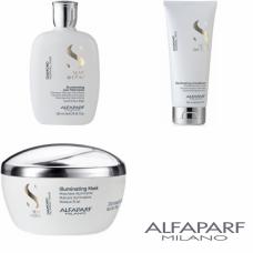 Kit mic pentru stralucire - Semi Di Lino - Diamond - Alfaparf Milano - 3 produse cu 25% discount