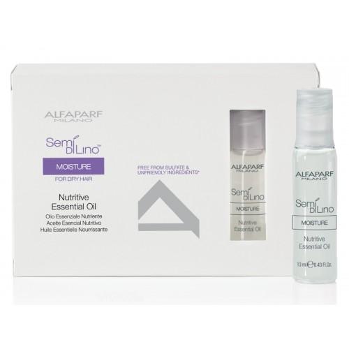 Tratament Intensiv De Hidratare - Moisture Essential Oil - Semi Di Lino - Alfaparf Milano - 6 X 13 Ml