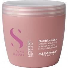Masca intens hidratanta pentru par uscat - Nutritive Mask - Semi Di Lino - Moisture - Alfaparf Milano - 500ml