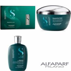 Kit mic pentru reconstructie - Semi Di Lino - Reconstruction - Alfaparf Milano - 3 produse cu 7% discount