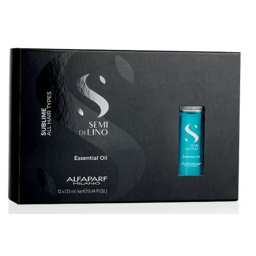 Ulei Esential De Intensificare A Stralucirii Parului - Essential Oil - Semi Di Lino - Sublime - All Hair Types - Alfaparf - 12x13 Ml