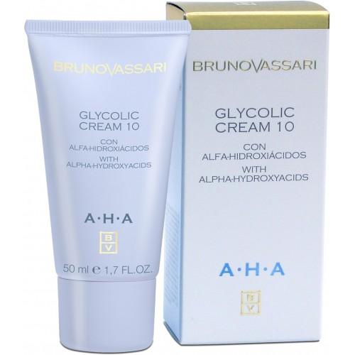 Crema Hidratanta Cu Acid Glicolic Si Efect Regenerator - Aha - Glycolic Cream 10% -bruno Vassari - 50 Ml