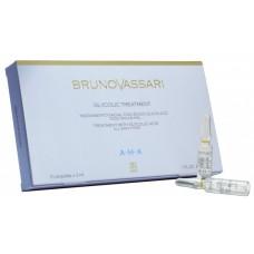 Tratament facial profesional concentrat cu acizi Alfa-Hidroxi - AHA Glycolic Tratament - Bruno Vassari - 10x3 ml