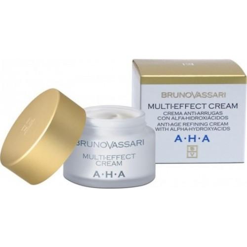 Crema Anti-rid Hidratanta Cu Acid Glicolic - Multi-effect Cream - Bruno Vassari - 50 Ml