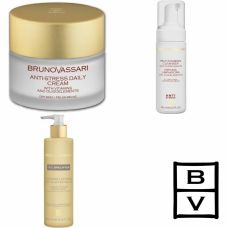 Kit anti stres (Crema Secas) - Anti-Stress Line - Bruno Vassari - 3 produse cu 7% discount