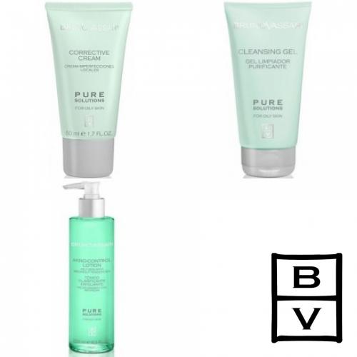 Kit Anti Acnee - Pure Solution - Bruno Vassari - 3 Produse Cu 7% Discount