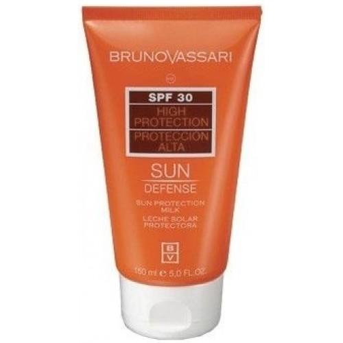 Emulsie Cu Protectie Solara Pentru Corp Si Ten - Sun Protection Milk Spf 30 - Bruno Vassari - 150 Ml