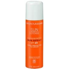 Spray transparent cu SPF 25 fara ulei - Transparent Sun Spray SPF 25 - Sun Defense - Bruno Vassari - 200 ml
