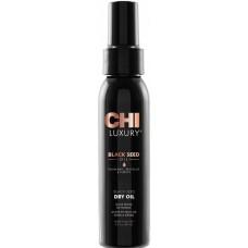 Ulei reparator si hidratant pentru toate tipurile de par - Dry Oil - Black Seed Oil - Chi Luxury - 89 ml