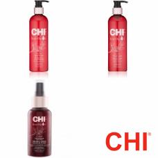 Kit mic protector si hidratant pentru par uscat si vopsit - Color Nurture - CHI - 3 produse cu 15% discount
