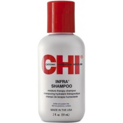 Sampon Terapeutic Hidratant Pentru Fixarea Culorii - Moisture Therapy Shampoo - Infra Shampoo - Chi - 59 Ml