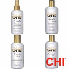 Kit reparator cu cheratina - Keratin - CHI - 4 produse cu 20% discount
