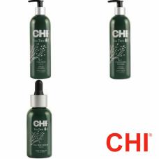 Kit pentru calmare si reechilibrare absoluta - sampon + balsam + ser - Tea Tree Oil - CHI - 3 produse cu 15% discount