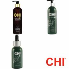 Kit hidratant cu uleiuri esentiale - balsam + sampon + ser - Tea Tree Oil - CHI - 3 produse cu 15% discount