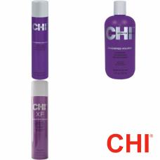 Kit balsam + fixativ XF + spuma - Magnified - Volume - CHI - 3 produse cu 15% discount