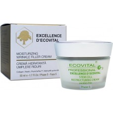 Crema anti-rid hidratanta - Moisturizing Wrinkle Filler Cream - Excellence D'Ecovital - Ecovital - 50 ml