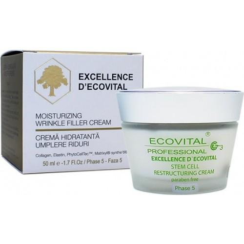 Crema Anti-rid Hidratanta - Moisturizing Wrinkle Filler Cream - Excellence D'ecovital - Ecovital - 50 Ml