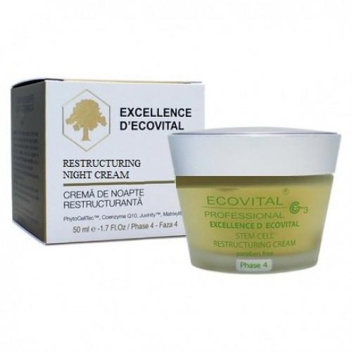 Crema De Noapte Regeneranta - Restructuring Night Cream - Excellence D'ecovital - Ecovital - 50 Ml