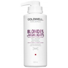 Tratament reparator intensiv in 60 secunde - 60SEC Treatment - Blondes & Highlights - Goldwell - 500 ml