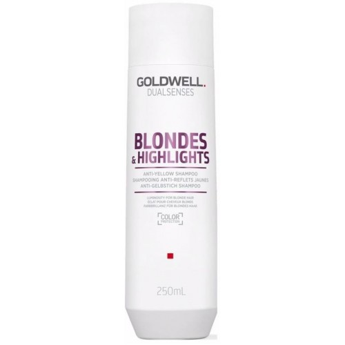 Sampon Pentru Par Blond Sau Cu Suvite - Anti-yellow Shampoo - Blondes & Highlights - Goldwell - 250 Ml