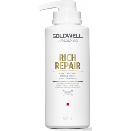 Tratament Reparator Pentru Par Degradat - 60sec Treatment - Rich Repair - Dualsenses - Goldwell - 500 Ml