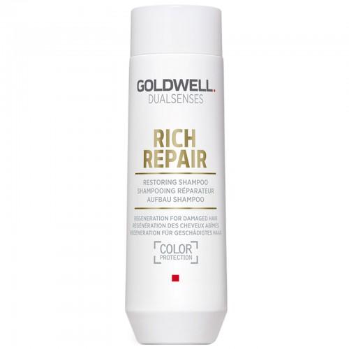 Sampon Reparator Pentru Par Intens Degradat - Restoring Shampoo - Rich Repair - Dualsenses - Goldwell - 250 Ml