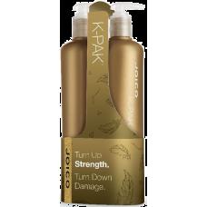 Set şampon + balsam reparator pentru păr degradat - K-Pak Duo - Joico - 2 x 500 ml
