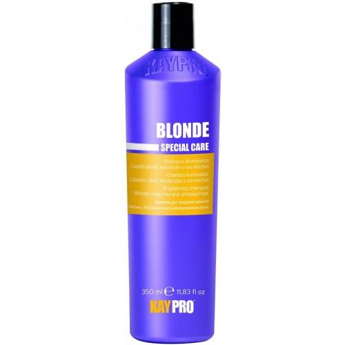 Sampon Cu Efect De Stralucire Pentru Par Blond - Brightening Shampoo With Saphire - Blonde - Kaypro - 350 Ml