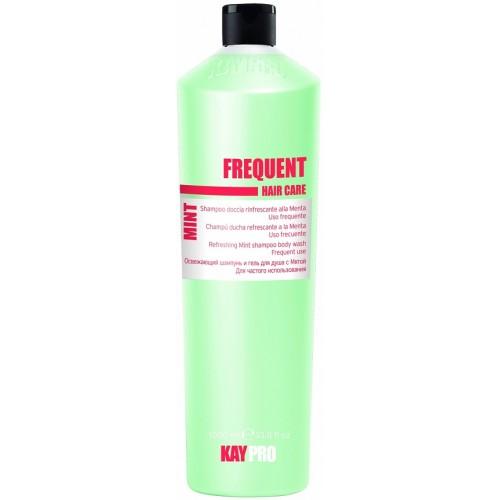 Sampon Revigorant Cu Extract De Menta - Refreshing Mint Shampoo Body Wash - Frequent - Kaypro - 1000 Ml
