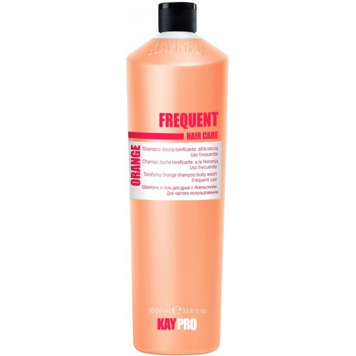 Sampon Tonifiant Cu Extract De Portocala - Tonifying Orange Shampoo Body Wash - Frequent - Kaypro - 1000 Ml