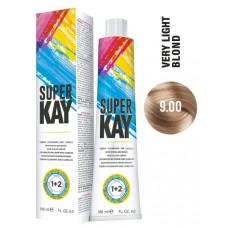 Vopsea de par profesionala permanenta - 9.00 - Hair Color Cream - Super Kay - 180 ml
