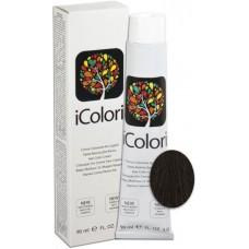 Vopsea de par profesionala permanenta - 3 - Hair Color Cream - iColori - 90 ml
