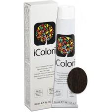 Vopsea de par profesionala permanenta - 4 - Hair Color Cream - iColori - 90 ml